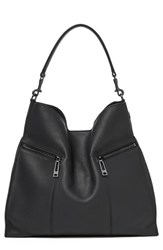Botkier Trigger Pebbled Leather Hobo Black