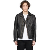 Schott Black Hand Vintaged D Pocket Jacket