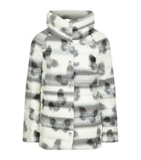 Escada Sport Butterfly Print Quilted Down Jacket Female Multi