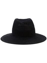 Maison Michel Hat With Grosgrain Ribbon Women Straw M Black