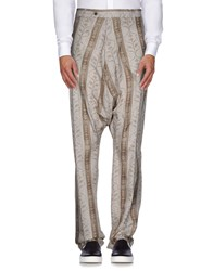 John Galliano Trousers Casual Trousers Men Light Grey