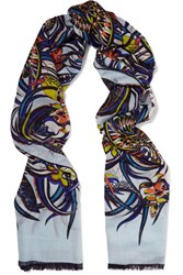 Emilio Pucci Printed Cashmere And Silk Blend Gauze Scarf Multi
