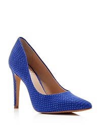 Vince Camuto Kain Exotic Embossed Pointed Toe High Heel Pumps
