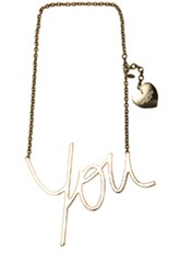 Lanvin Brass You Necklace In Metallics