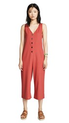Knot Sisters Riley Jumpsuit Coral