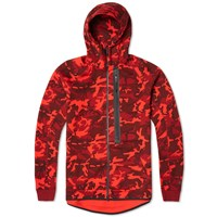 Nike Tech Fleece Camo Aw77 Hoody Team Red And Black