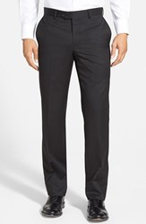 Men's Nordstrom Men's Shop Flat Front Wool Trousers