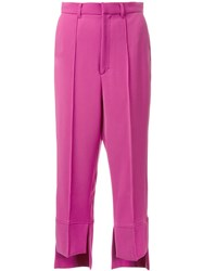 G.V.G.V. 'High Low Hem' Trousers Pink Purple