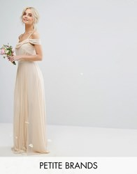Tfnc Petite Wedding Cold Shoulder Embellished Maxi Dress Cream