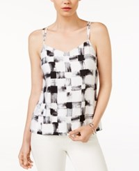 Armani Exchange Sleeveless Printed Top Soft Black
