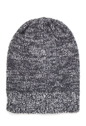 Forever 21 Two Tone Slouchy Beanie Grey Cream