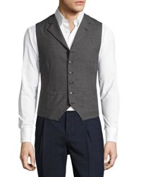 Brunello Cucinelli Wool Notch Collar Vest Medium Gray