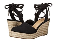 Michael Michael Kors Margie Closed Toe Wedge Black Small Weave Canvas Women's Shoes Beige
