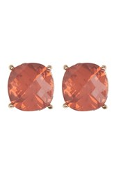 Vince Camuto Square Stud Earrings Gold 01