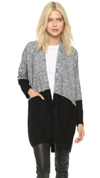 La Fee Verte Two Tone Cardigan Steel Black