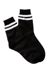 Free Press Sport Mesh Crew Socks Black
