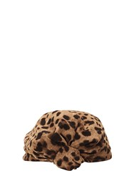 Dolce And Gabbana Leopard Stretch Cady Headband Multicolor