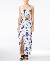 Material Girl Juniors' Cutout Tie Dyed Maxi Dress Only At Macy's Blue