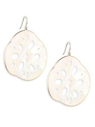 Annette Ferdinandsen Mother Of Pearl And 14K Yellow Gold Lotus Root Earrings