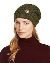 Canada Goose Basket Weave Slouchy Hat Military Green