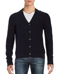 Black Brown Ribbed V Neck Cardigan Deep Summer