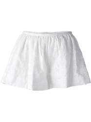 Thakoon Broderie Anglaise Shorts White