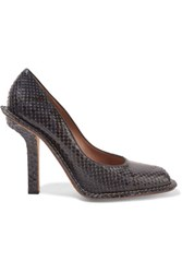 Marni Python Pumps Midnight Blue