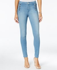 Guess Aria Button Detail Disco Wash Skinny Jeans