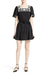 Kate Spade Women's Embroidered A Line Dress