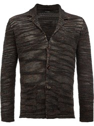 Roberto Collina Loose Knit Cardigan Brown
