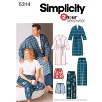 Simplicity 2 Hour Sleepwear Sewing Leaflet 5314 Aa
