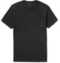 Club Monaco Williams Cotton Jersey T Shirt Black
