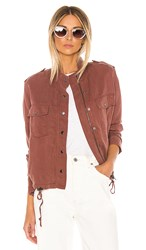 Rails Collins Jacket In Mauve. Burgundy