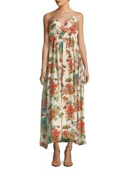 Molly Bracken Floral Maxi Dress Off White