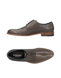 Versace Lace Up Shoes Khaki