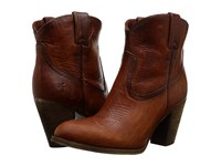 Frye Ilana Pull On Short Cognac Washed Oiled Vintage Women's Pull On Boots Brown