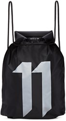 11 By Boris Bidjan Saberi Black Waterproof Gym Backpack