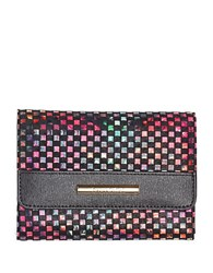 Braccialini Linda Printed Small Continental Wallet Black Multi