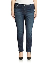 Lucky Brand Plus Plus Emma Straight Leg Jeans Cats Eye Wash