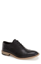 Andrew Marc New York 'Henry' Cap Toe Oxford Men Black Leather
