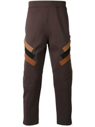 Neil Barrett Fitted Trousers Men Cotton Polyamide Polyester 50 Brown