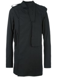 Rick Owens 'Pea' Trench Coat Black