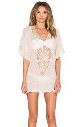Eberjey Sand Waves Malena Cover Up Ivory