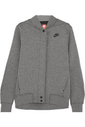 Nike Tech Fleece Destroyer Perforated Cotton Blend Jersey Jacket Gray