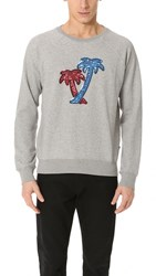Marc Jacobs Palm Sweatshirt Medium Grey Melange
