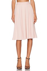 Wayf Pleated Midi Skirt Blush