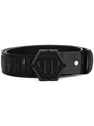 Philipp Plein Tonal Buckle Belt Black