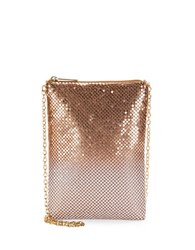 Jessica Mcclintock Embellished Phone Shoulder Bag Rose Gold