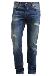 Ltb Vincente X Straight Leg Jeans Alvino Wash Destroyed Denim