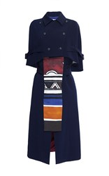 Stella Jean Esistere Two Piece Cape Dress Blue